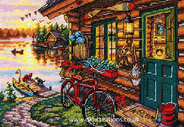 Cabin View Cross Stitch Kit